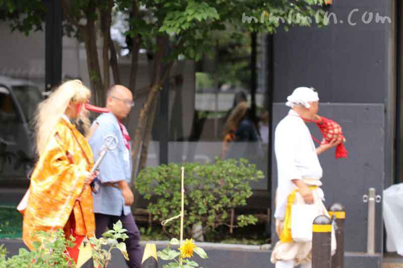 目黒三田春日神社 例大祭の天狗の写真