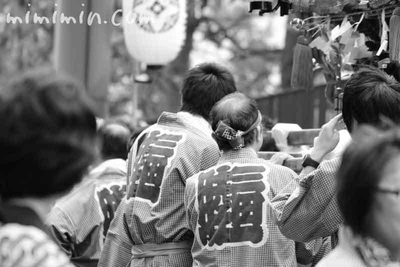 目黒三田春日神社のお神輿の写真