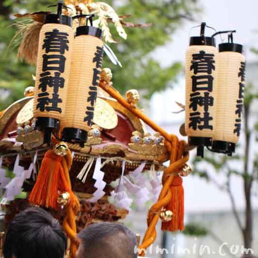 目黒三田春日神社 例大祭のおみこしの画像