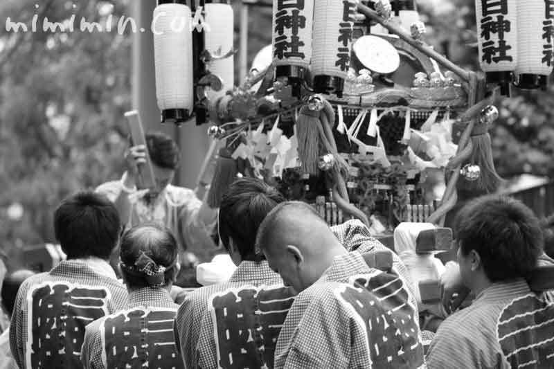 春日神社のお神輿の写真
