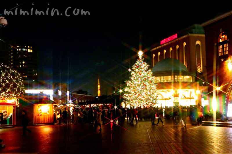 恵比寿ガーデンプレイス・クリスマスツリーと東京タワー