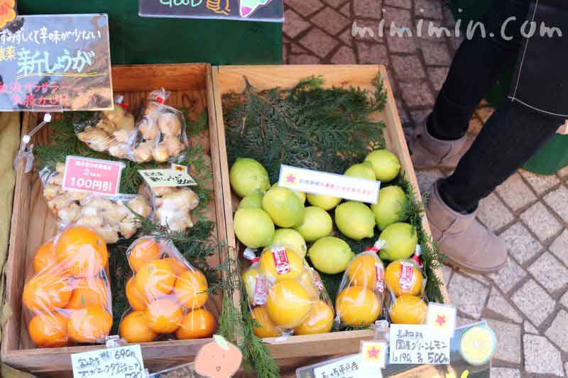 恵比寿マルシェのフルーツの写真