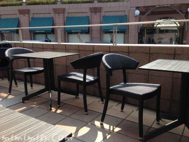 俺のベーカリー&カフェのテラス席(恵比寿ガーデンプレイス)の写真
