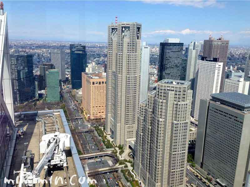 新宿パークハイアットの景色