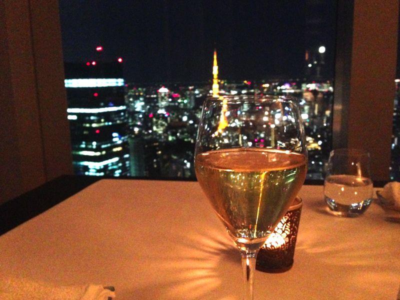 リッツカールトン・タワーズのシャンパンの写真