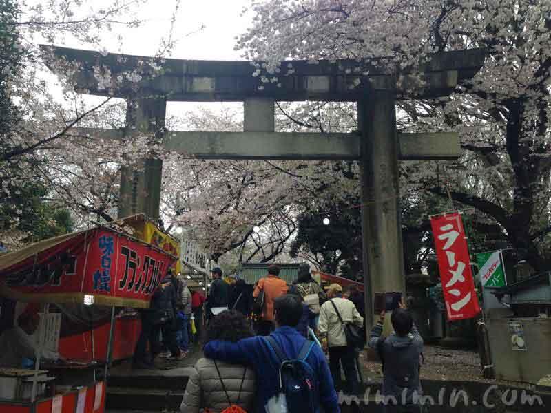 上野東照宮の鳥居の写真