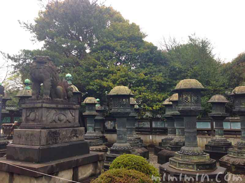 上野東照宮の狛犬の写真