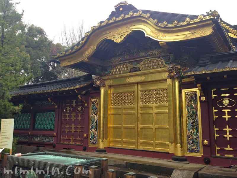 上野公園の上野東照宮の画像