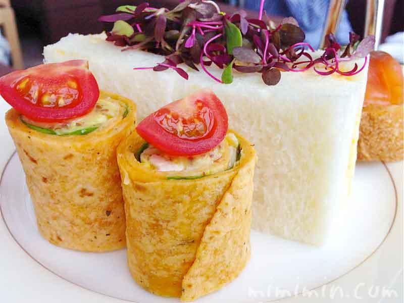 ピークラウンジのアフタヌーンティーのサンドイッチの画像