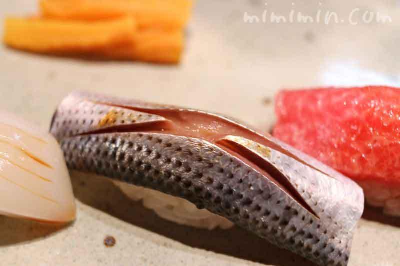 コハダのにぎり寿司の写真
