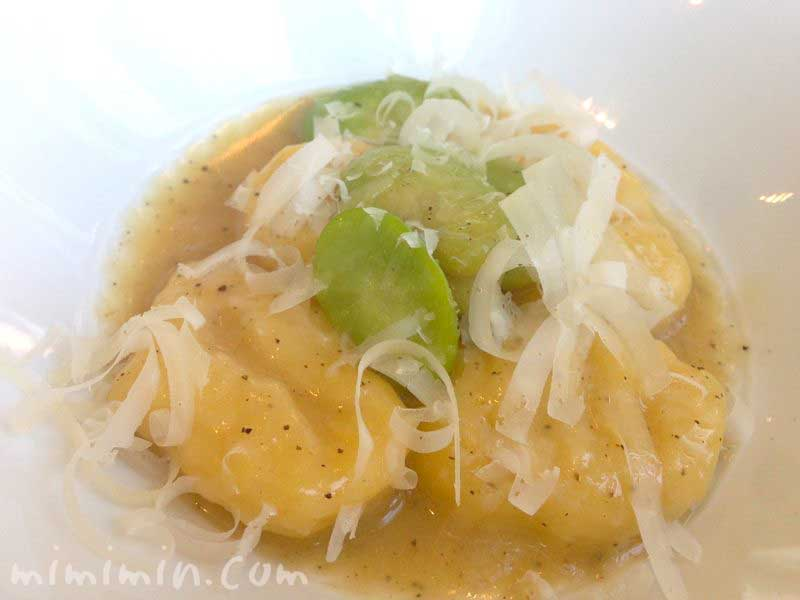 ジャガイモのニョッキ 空豆とパルミジャーノチーズのソース|ファロ資生の画像