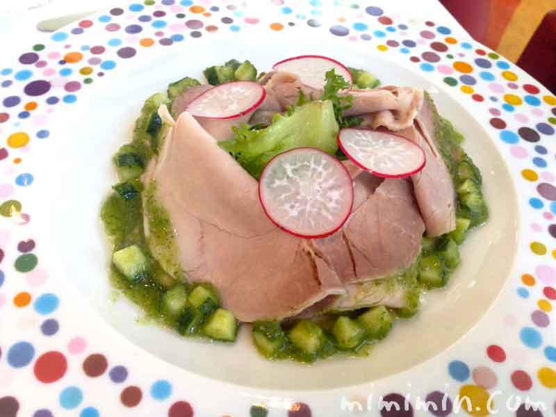 豚肉もも肉のサラダ仕立て 胡瓜のドレッシング|ファロ資生堂の画像
