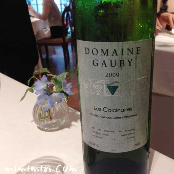 ドメーヌ・ゴビー レ・カルシネール・ブラン  ヴァン・ド・ペイ・デ・コート・カタラン 白ワインの写真