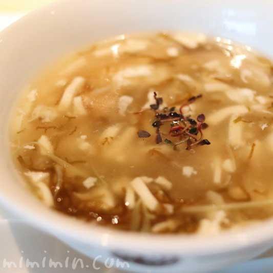 天南伊勢リアス式海岸の名産天然ひじきとコニッシュジャックのヒレ 豆腐入りとろみスープの画像