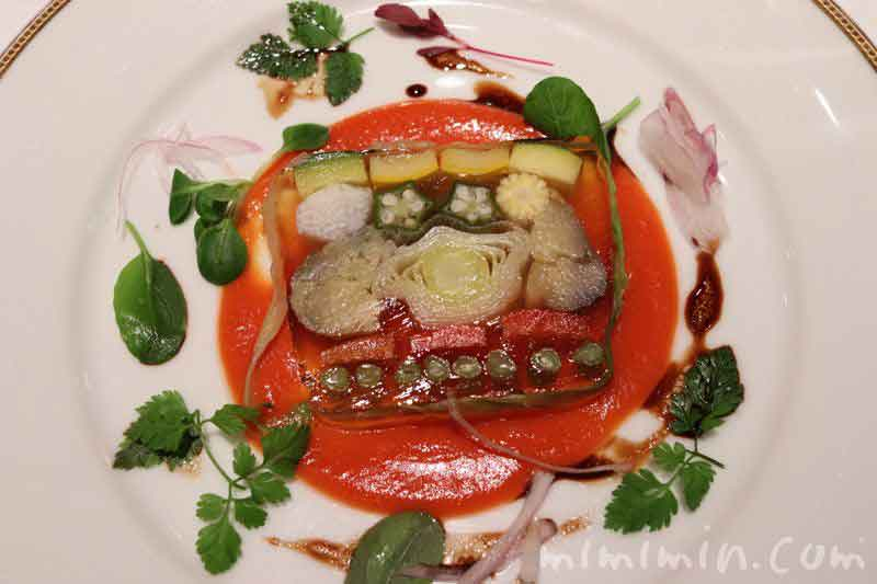 野菜のゼリーよせ トマトのクーリー|資生堂パーラー(銀座本店レストラン)の写真
