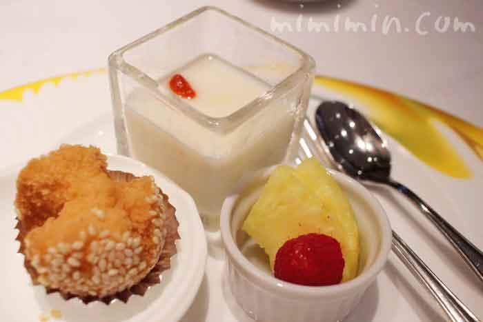 デザートの盛り合わせ|龍天門のランチ 琴棋詩酒の画像