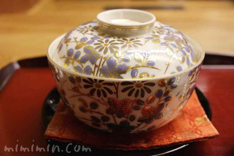 強肴 穴子豆腐 菊菜餡 菊花 山葵|赤坂 菊乃井のランチの画像