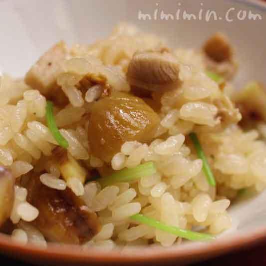御飯 地鶏と栗の御飯|赤坂 菊乃井のランチの写真