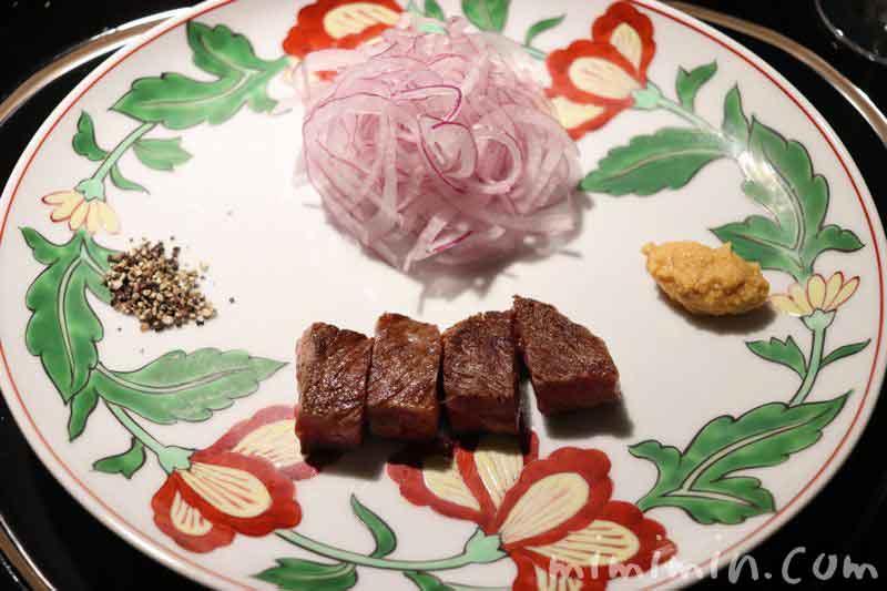 サーロインステーキ|銀座うかい亭 鉄板焼き