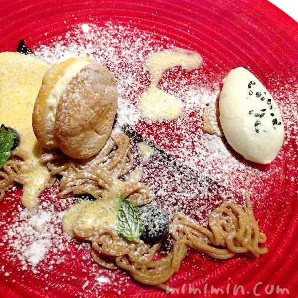 クレーム・ダンジェとイタリア産の栗のムース ゴマ塩のミルクジェラート|レストラン ヒロミチ|恵比寿のフレンチの画像