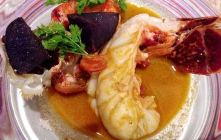 フランス・ブルターニュ産オマール海老 ブイヤベース仕立て|レストラン ヒロミチのディナー|恵比寿の画像