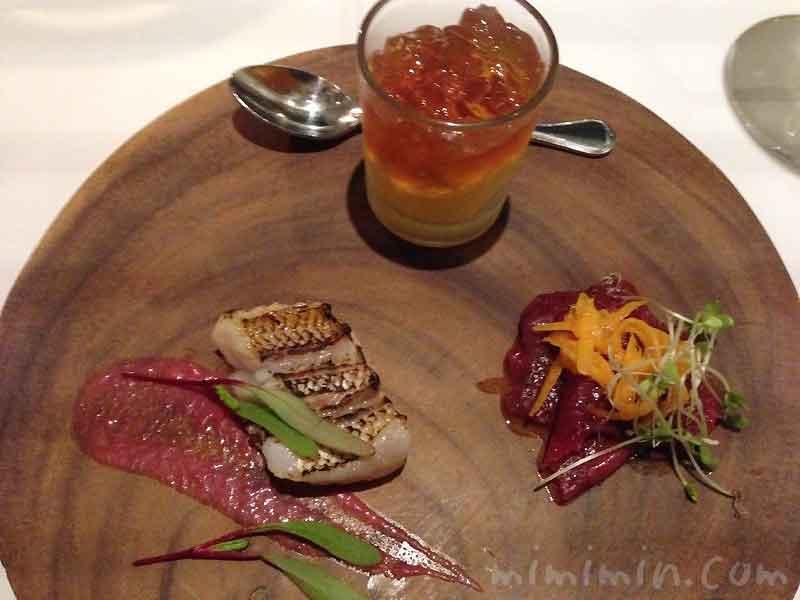 本日のアミューズ・グール3種|レストラン ヒロミチのディナーの画像