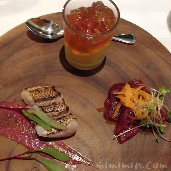 本日のアミューズ・グール3種|レストラン ヒロミチ|恵比寿の写真