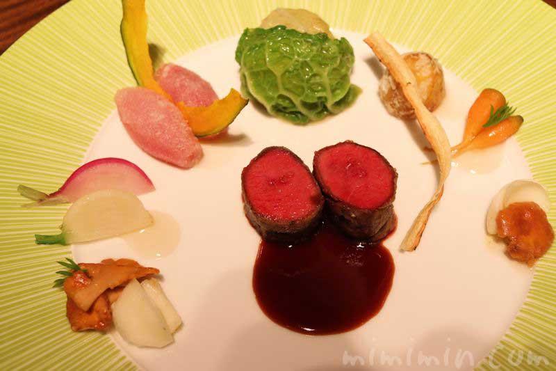 蝦夷鹿のロースト|レストランひらまつのランチ|広尾の画像
