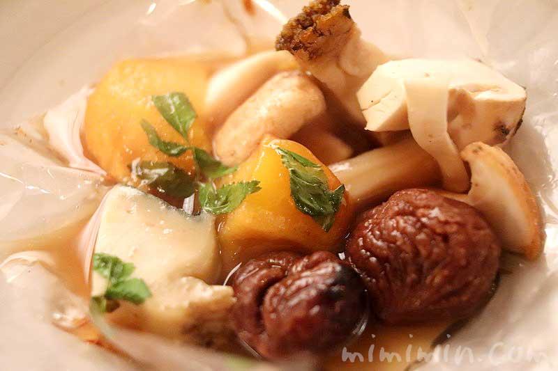 松茸、マロン、鮑~冬の味覚~|マダム・トキ(代官山のフレンチ)のディナーの写真