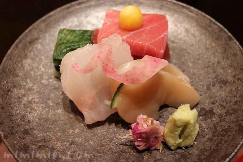 向付  本日の割鮮|日本料理 和田倉の会席ランチ|パレスホテル東京の写真