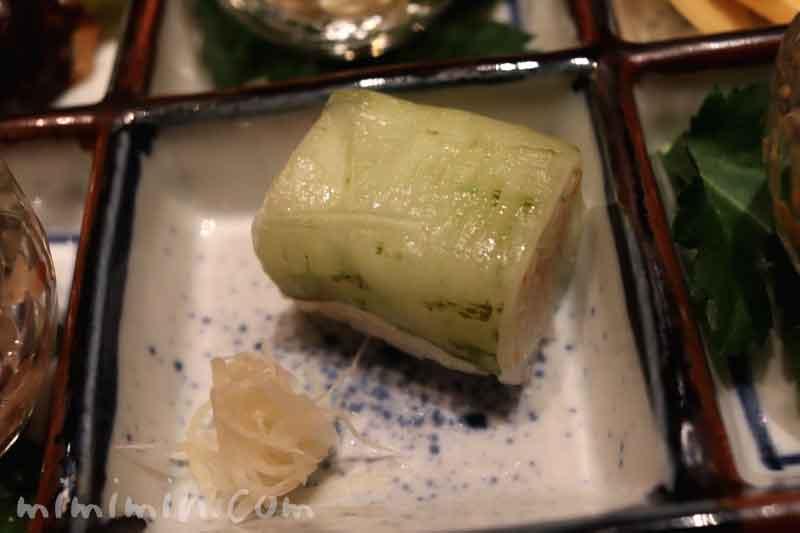 八寸|べったら寿司 針生姜甘酢漬け|日本料理 和田倉の会席ランチ|パレスホテル東京の画像