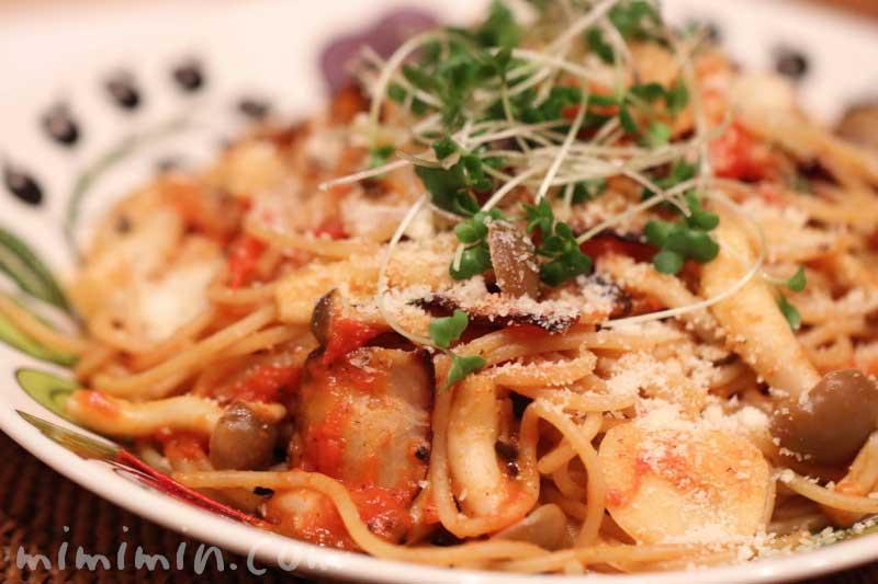 トマトのペペロンチーノの写真