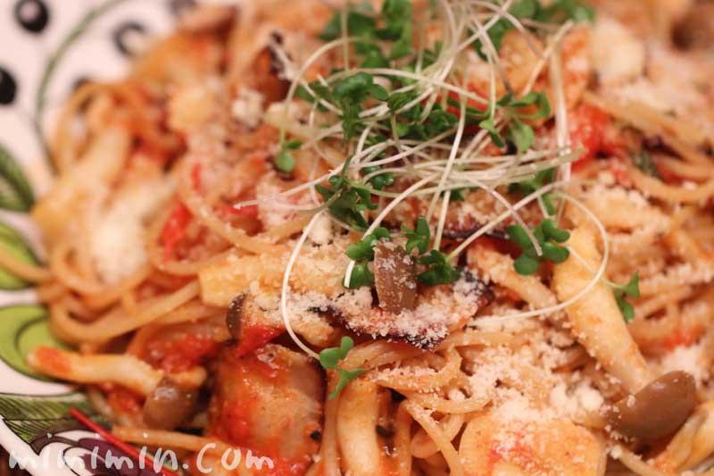 トマトのペペロンチーノのレシピの画像