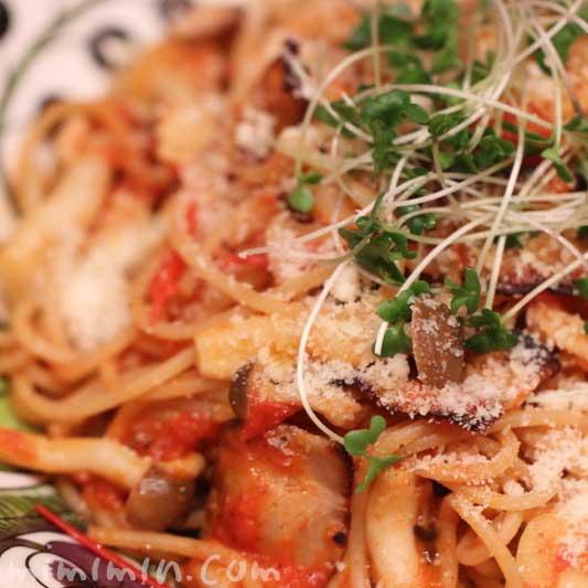 トマトのペペロンチーノパスタ