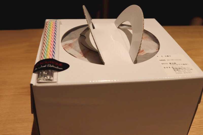 ジョエルロブションのホールケーキ(アントルメ)の写真