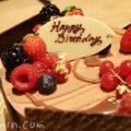 ジョエルロブションのバースデーケーキ「フルール オランジュ」の写真