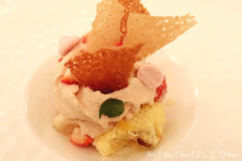 パネットーネ 苺 ホワイトチョコレート|リストランテセンソのデザート|白金台のイタリアンの画像