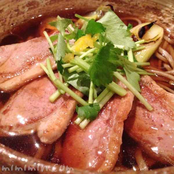鴨南蛮そば|板蕎麦 香り屋(恵比寿)