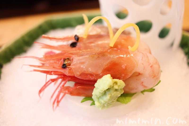 造り 甘海老|温故知新(恵比寿)ランチ|日本料理・懐石料理の画像