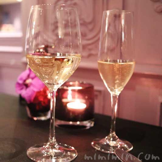 白ワインとシャンパン|ラ ターブル ドゥ ジョエル・ロブションのディナー&フリーフロー|恵比寿のフレンチ