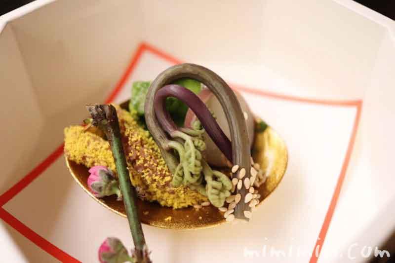 筍・独活・烏賊木の芽和え 飯蛸 わらび|赤坂 菊乃井の画像