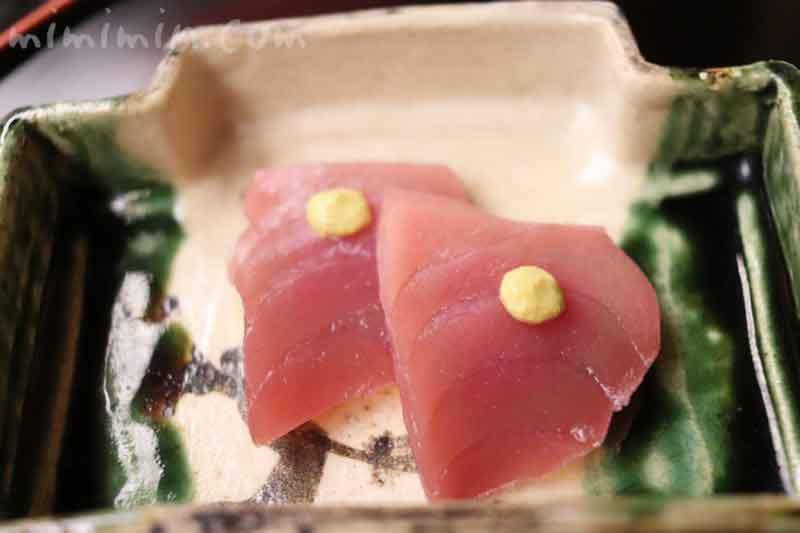 向付| 小鮪 黄身醤油 辛子|赤坂 菊乃井の画像