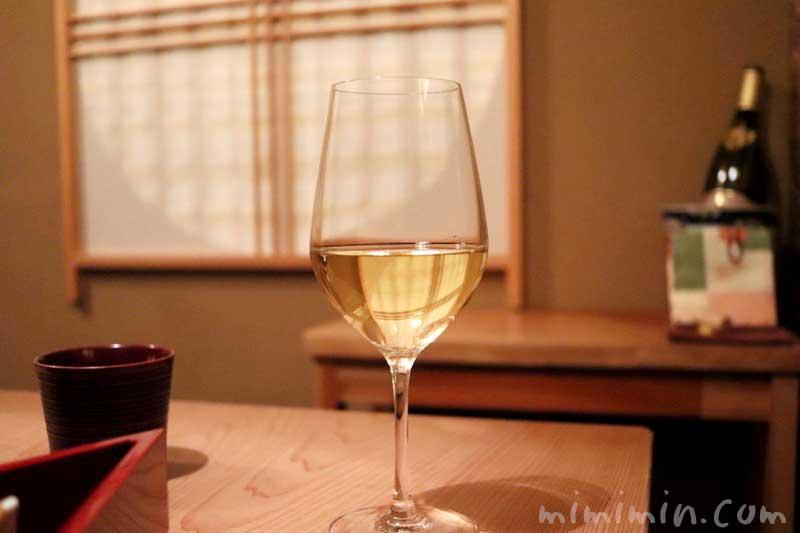 白ワイン|恵比寿 くろいわ|懐石料理の写真