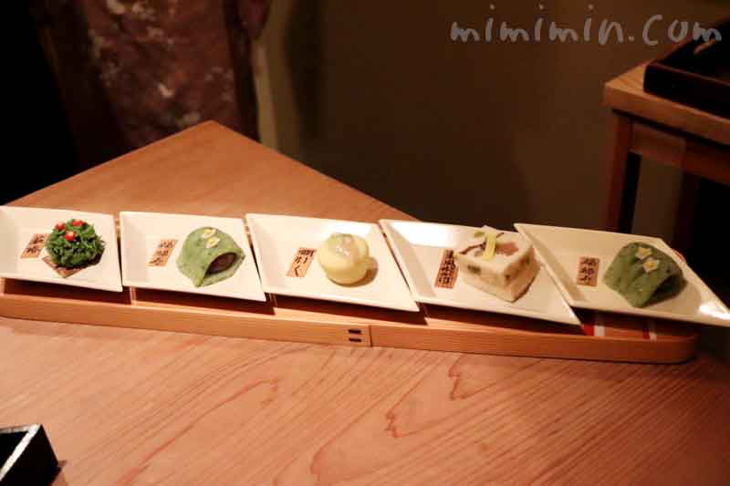 上生菓子|くろいわ恵比寿 |懐石の写真