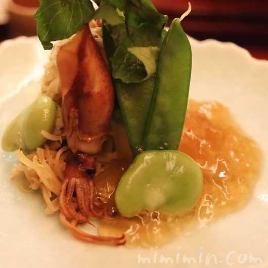 先付|ホタルイカ|恵比寿 くろいわ|日本料理の写真