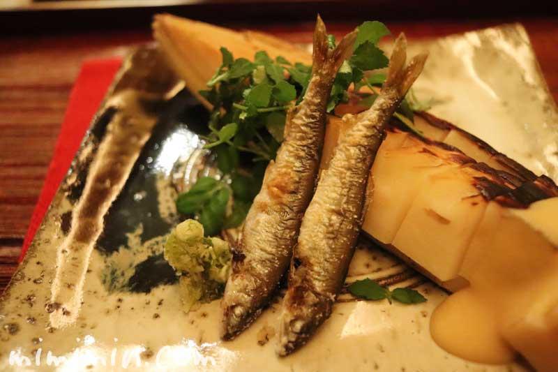 焼物|筍と鮎|恵比寿 くろいわ|日本料理・懐石の写真