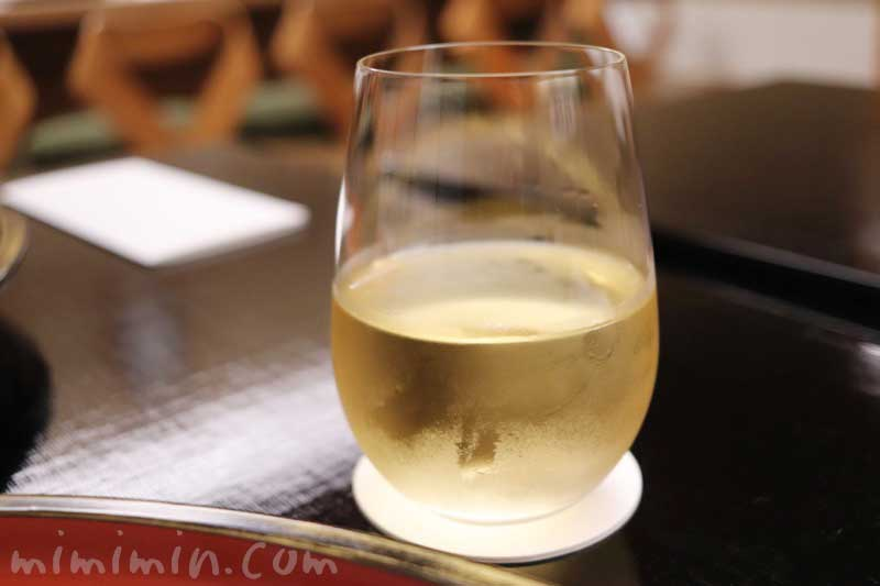 白ワイン|菊乃井の懐石料理|赤坂の写真