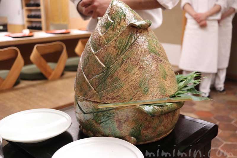 焼筍 山椒オイル|菊乃井の懐石料理|赤坂の画像