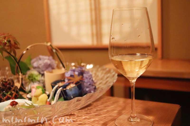 白ワイン|くろいわ ディナー|恵比寿の懐石料理の画像