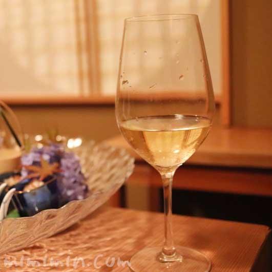 白ワイン|くろいわ|恵比寿の懐石料理の画像